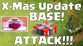 Clash Of Clans Attacking OLD Christmas Update Base | X-mas Update Series