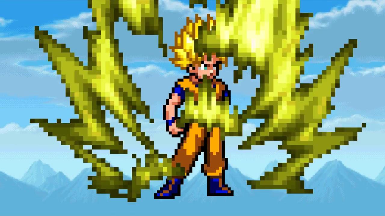How To Draw Goku Super Saiyan 3 Pixel Art
