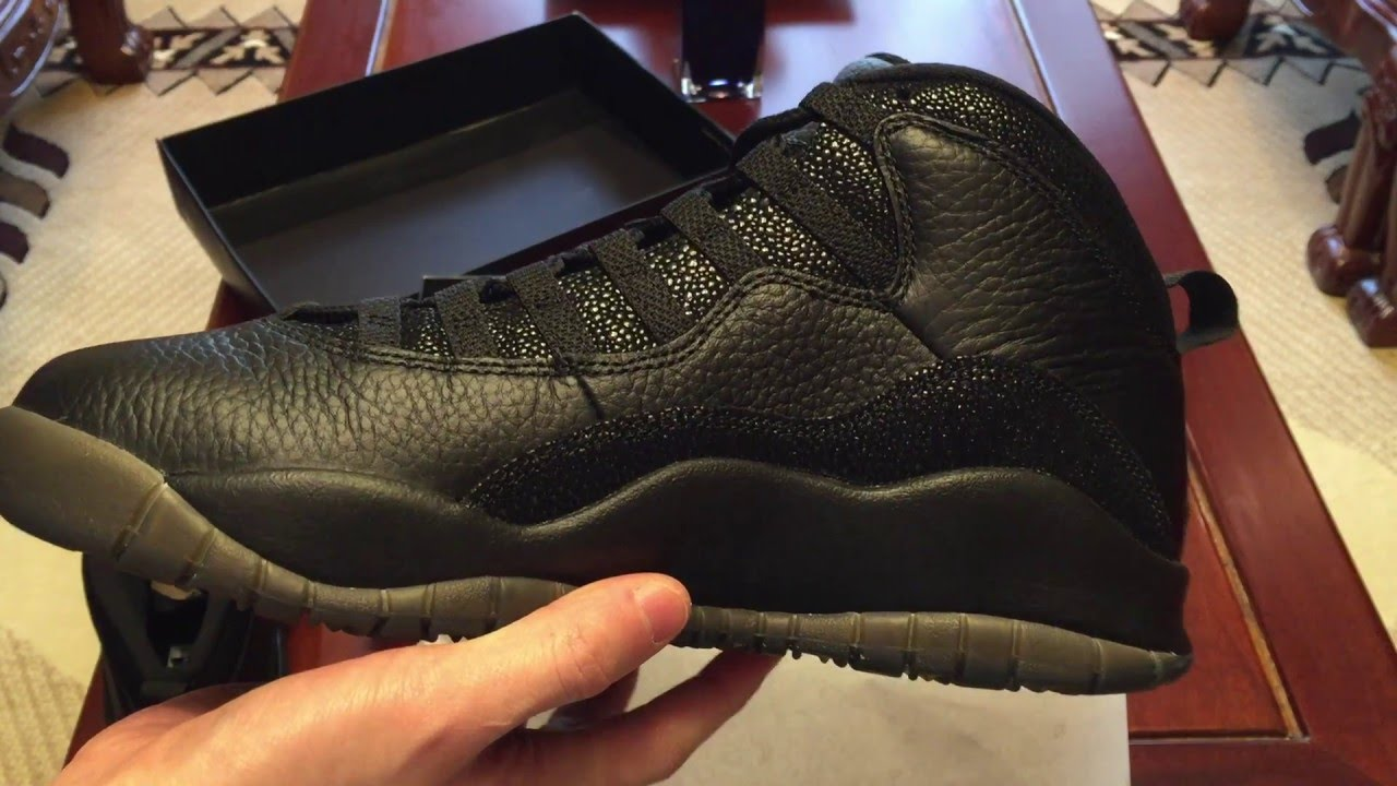 04b2c9e06f03 Air Jordan 10 Retro  OVO  Black Sneaker Unboxing - YouTube