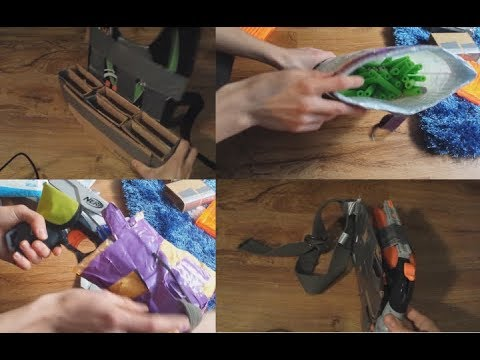 DIY Nerf tac gear for $0 (duct tape, cardboard, shipping bags, and a coat hanger)