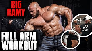 BIG RAMY FULL BICEPS & TRICEPS WORKOUT 2019