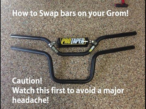 Pro Taper Handlebars >> How to: Honda Grom Handle bar swap! ProTaper Raptor 7/8 ...