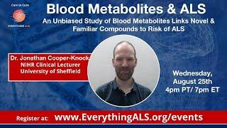 Blood Metabolites & ALS - A Study of Blood Metabolites Links Compounds to Risk of ALS