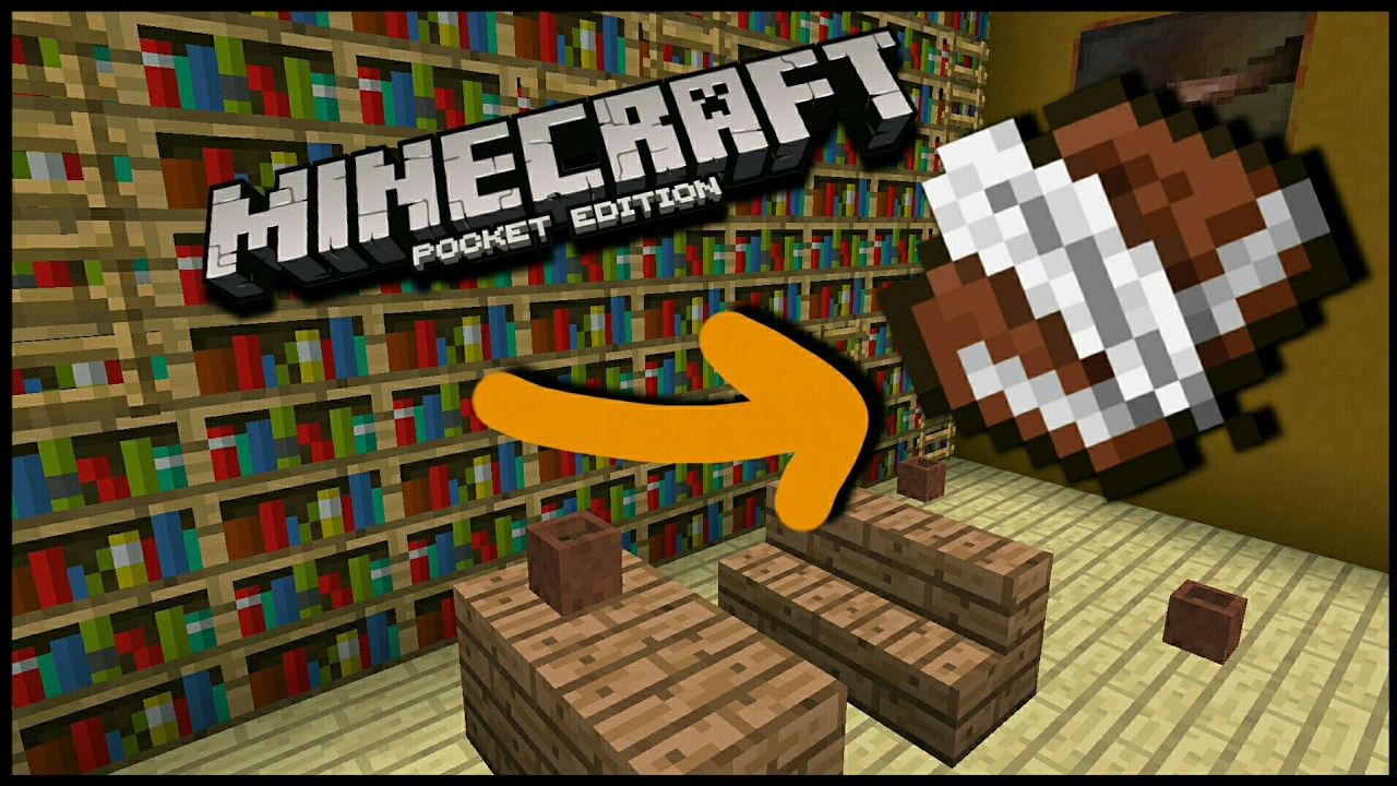 How To Make A Working BookShelf Minecraft Pocket Edition