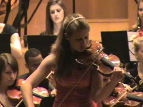 Beethoven Violin-Konzert 1.Satz, Solistin: Milena Wilke (15 Jahre)