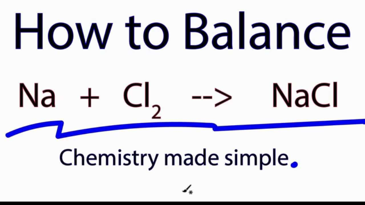 How To Balance Na Cl2 Nacl Youtube