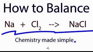 how to balance na cl2 nacl