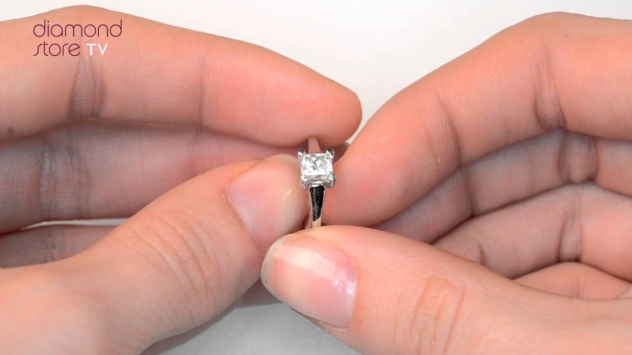 Lucy 18K White Gold 0.50ct Diamond Engagement Ring - UT32 72 - YouTube