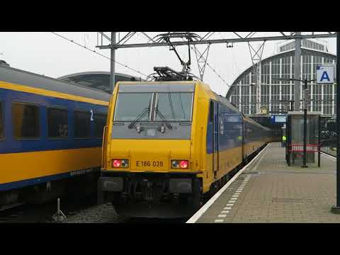 NS Intercity Direct Amsterdam - Breda / Rotterdam - Amsterdam with E186  at Amsterdam Centraal
