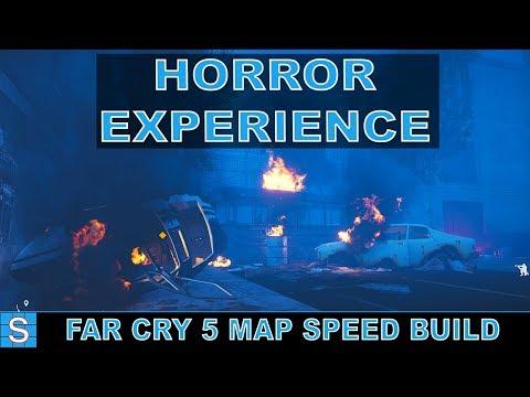 ZOMBIE HORROR | Far Cry 5 Custom Map Speed Build | Evac Night (Part 1: Build) thumbnail