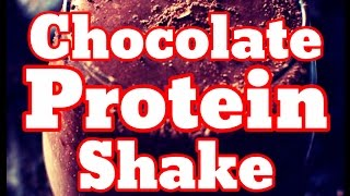 How To Make Chocolate Banana Smoothie With Blender - Shake With Without Protein Powder