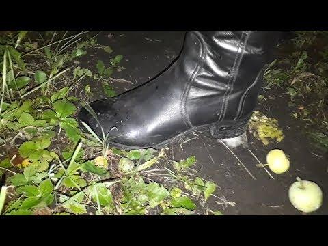 Alisa's Exclusive Boot Fetish, Crush Fetish In Garden In Loriblu Leather Boots