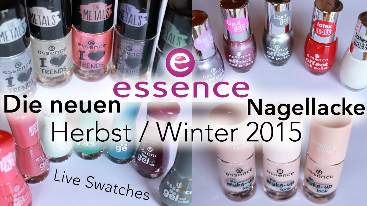 Die neuen essence Nagellacke | Herbst / Winter 2015 ♡ Live Swatches ...