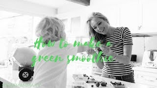 how to make a yummy green smoothie