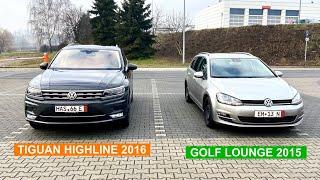 TIGUAN 2 на FULLе и GOLF 7 Lounge из Германии /// Обзор