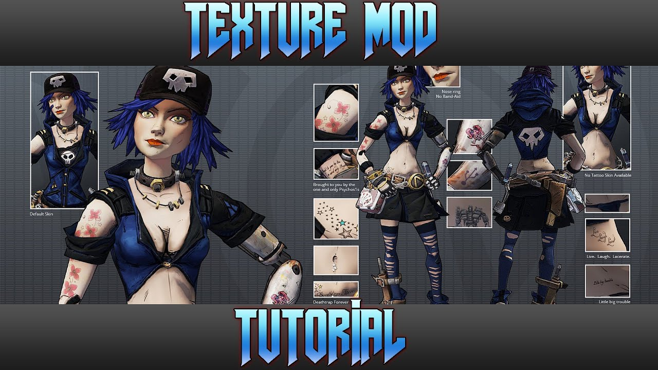 Borderlands Nude Mod Top borderlands 2 - how to install texture mods - youtube