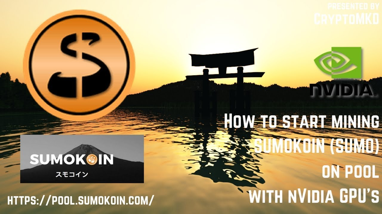 How to start mining SUMOKOIN (SUMO) on pool with NVIDIA GPU's
