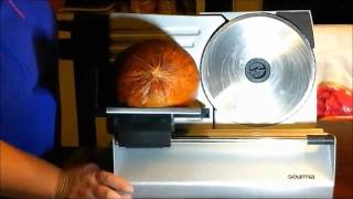 Gourmia GFS900 Professional Electric Power Food & Meat Slicer Review, Slices Meats With Ease