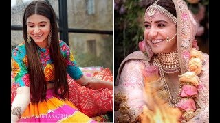 Indian latest Mehndi Design For Wedding functions 2018-Anushka wedding