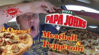 Papa John's ☆XL MEATBALL PEPPERONI PIZZA☆ Food Review!!!