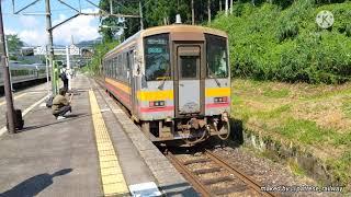 【キハ120形】大糸線 普通 糸魚川行き  南小谷駅発車シーン