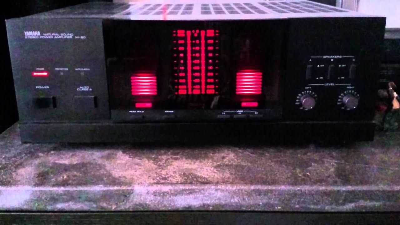 yamaha m 80 power amplifier youtube. Black Bedroom Furniture Sets. Home Design Ideas