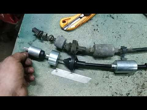 Рено Сценик - замена троса сцепления и газа.