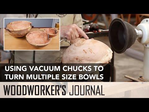 Turning Three Sizes of Bowls Using Vacuum Chucks | Woodturning Project