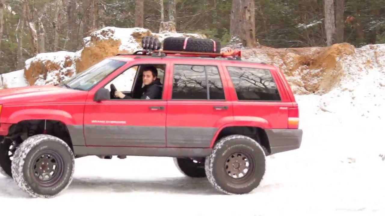 2014 Jeep Grand Cherokee Lifted >> 1996 Lifted Jeep Grand Cherokee Off Roading - YouTube
