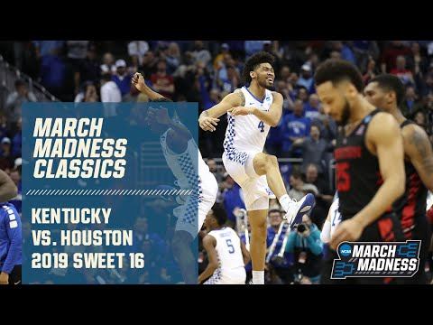 Kentucky Vs. Houston In Sweet 16 (FULL GAME)
