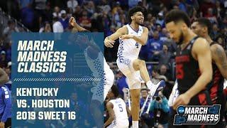 Kentucky vs. Houston in Sweet 16 (FULL GAME)