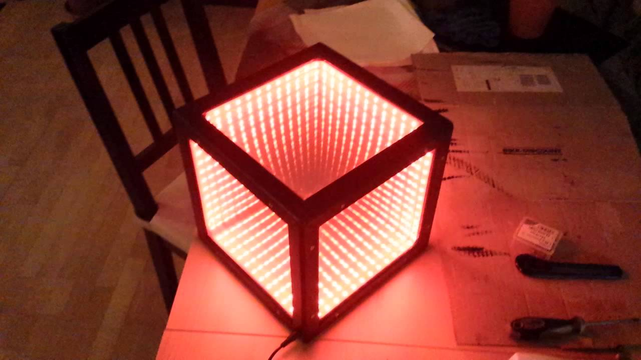 infinity cube. led infinity cube - einmaliges einzelstück lichtspiel a