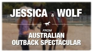 Gold Coast Favourite Pet Competition - Jessica & Wolf From Australian Outback Spectacular
