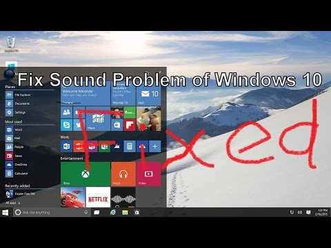 How to fix Audio Sound problem not working on windows 10 | FunnyDog.TV
