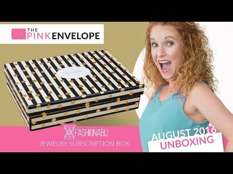Fashionabli Aug 2016 Unboxing