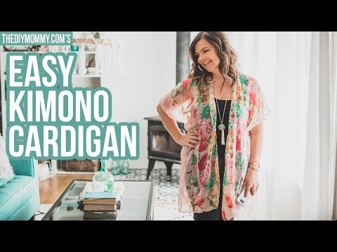How To Make A Kimono Cardigan From A Scarf In 20 Minutes - YouTube
