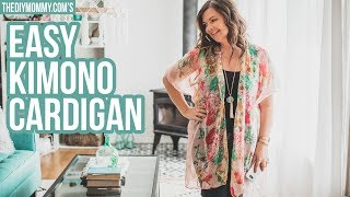How To Make A Kimono Cardigan From A Scarf In 20 Minutes