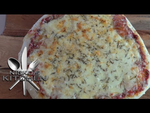 EASY CHEESE PIZZA - Nicko\'s Kitchen - YouTube
