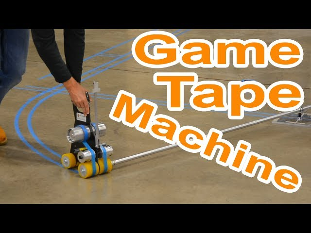 Game Line Tape Machine for Gym Floor Painting on Hardwood