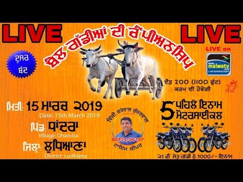 LIVE 🔴 OX RACES at DHANDRA (Ludhiana)  [15 March 2019] 🔴 STREAMED VIDEO