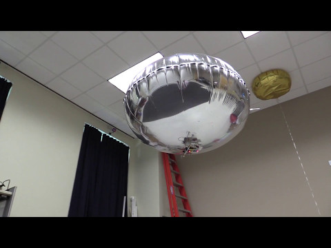 Autonomous blimp detects faces and hand movements