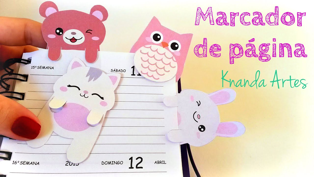 Marcador De Pagina Passo A Passo Diy Bookmark Youtube
