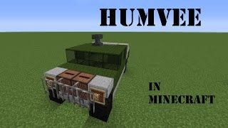 How to build a Humvee in Minecraft