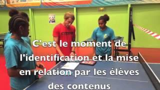 Scénario Didactique TICE NC Tennis de Table  2015