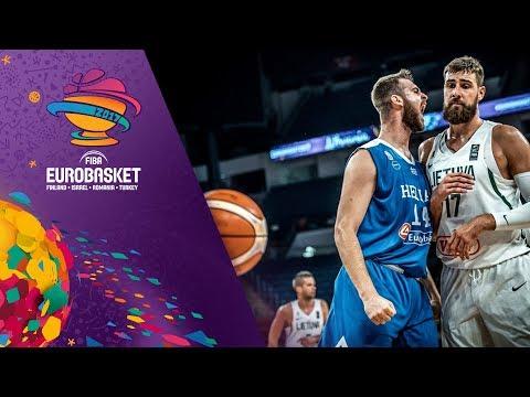 Lithuania v Greece - Highlights - Round of 16 - FIBA EuroBasket 2017