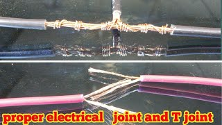 Proper joint of electric wire and cable T joint 2018 thumbnail