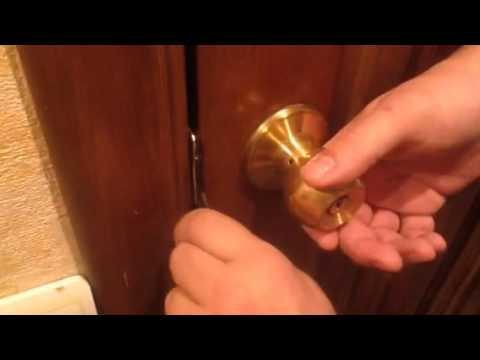 Как открыть замок, если захлопнулась дверь