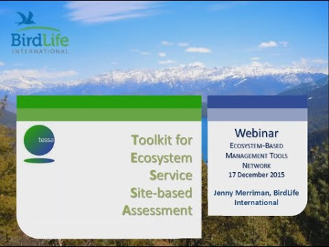 Toolkit for Ecosystem Services Site-based Assessment (TESSA)