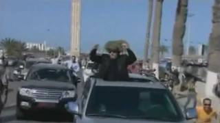 Muammar Gaddafi parades through Tripoli while I play fitting music