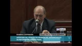 """Zaffaroni: """"El Código Penal debe ser obra de todos"""""""